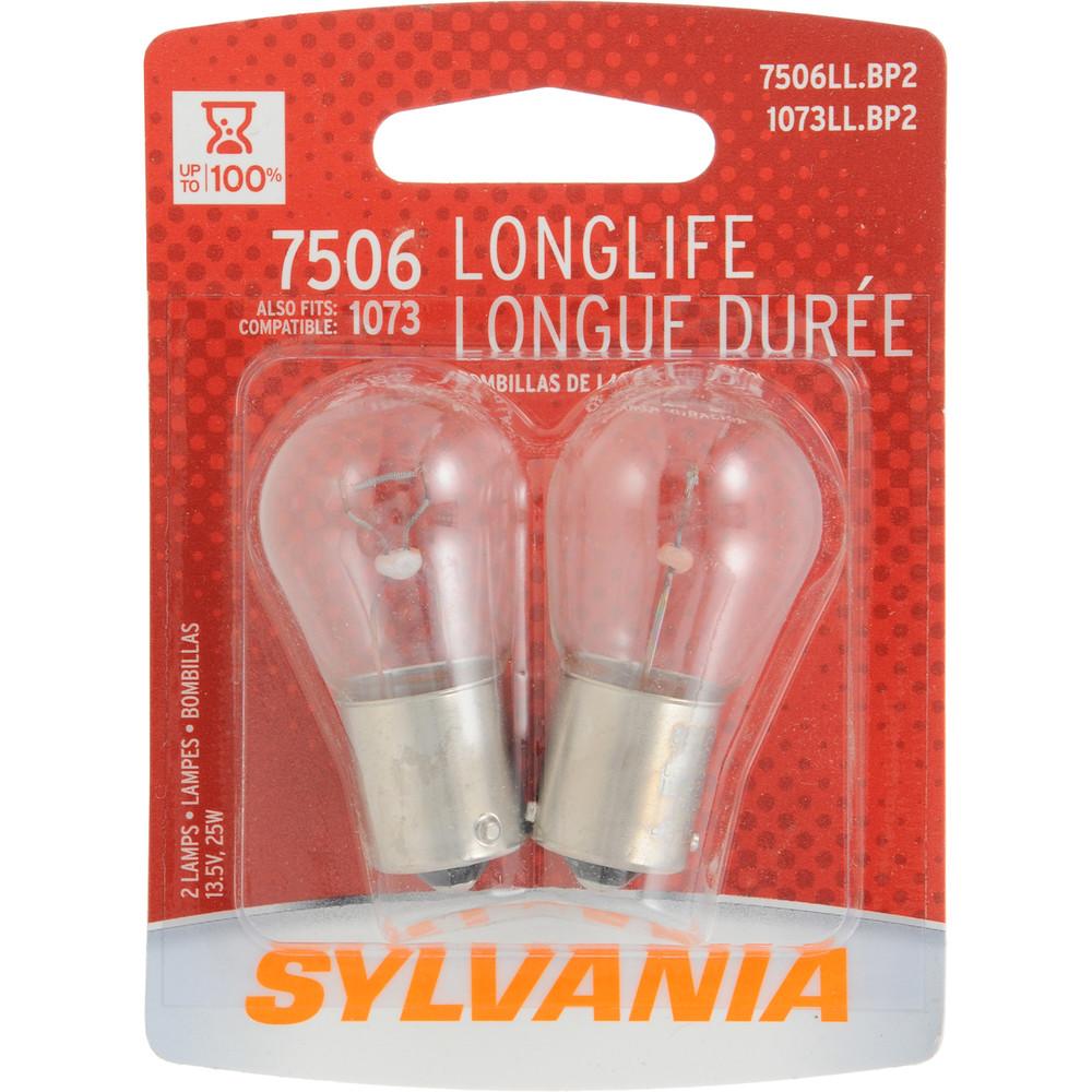 SYLVANIA RETAIL PACKS - Long Life Blister Pack Twin Brake Light Bulb - SYR 7506LL.BP2