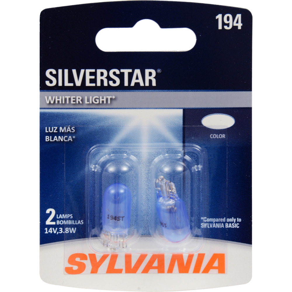 SYLVANIA RETAIL PACKS - SilverStar Blister Pack Twin Trunk or Cargo Area Light - SYR 194ST.BP2