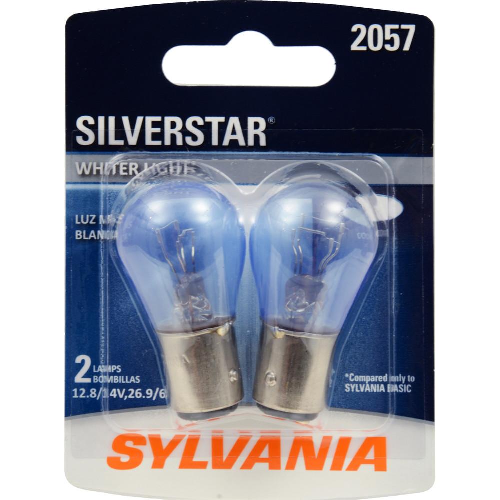 SYLVANIA RETAIL PACKS - SilverStar Blister Pack Twin Turn Signal Light Bulb (Front) - SYR 2057ST.BP2