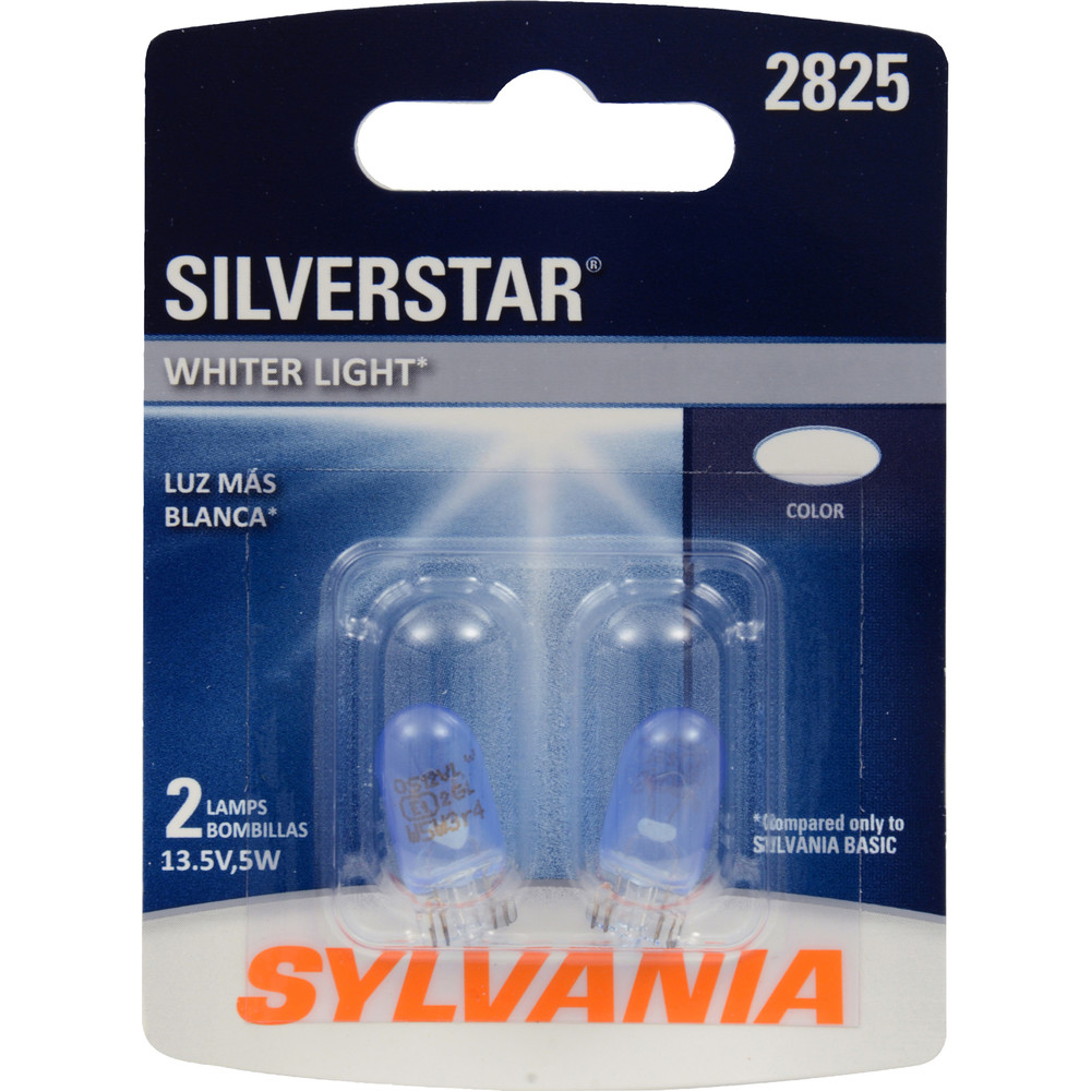 SYLVANIA RETAIL PACKS - SilverStar Blister Pack Twin Door Mirror Illumination Light Bulb - SYR 2825ST.BP2