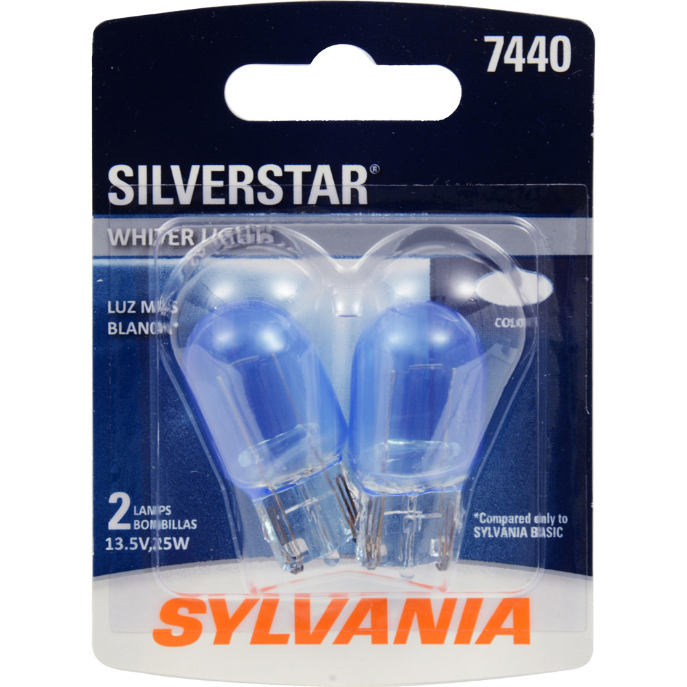 SYLVANIA RETAIL PACKS - SilverStar Blister Pack Twin Back Up Light Bulb - SYR 7440ST.BP2