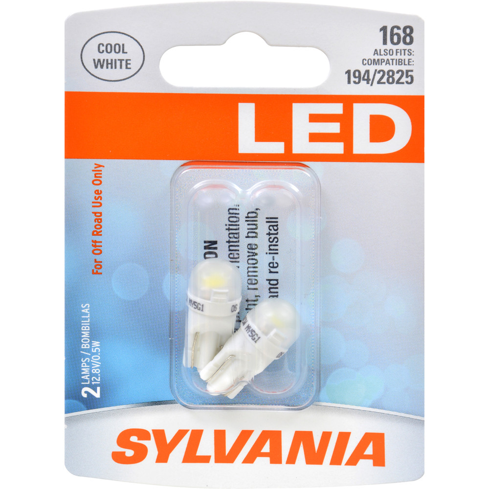 SYLVANIA RETAIL PACKS - LED Blister Pack Twin Interior Door Light Bulb - SYR 168SL.BP2