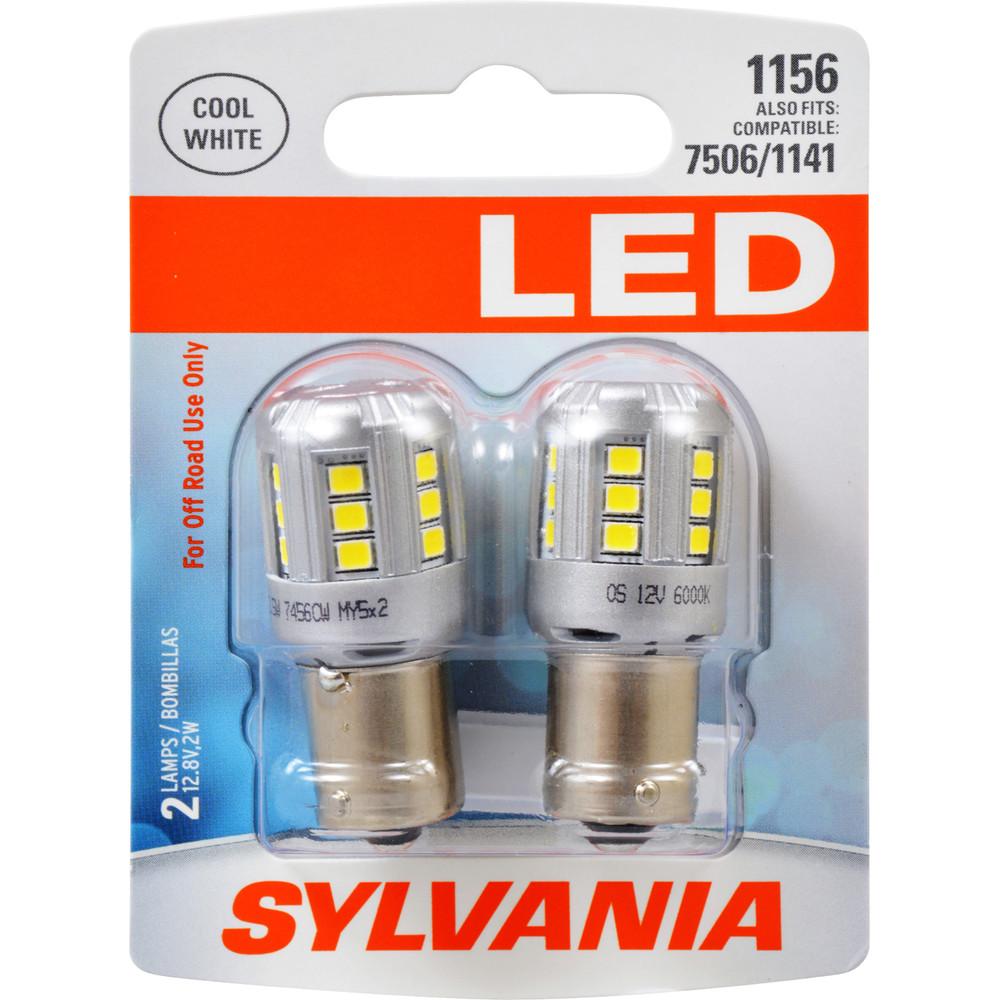 SYLVANIA RETAIL PACKS - LED Blister Pack Twin Turn Signal Light Bulb (Rear) - SYR 1156SL.BP2