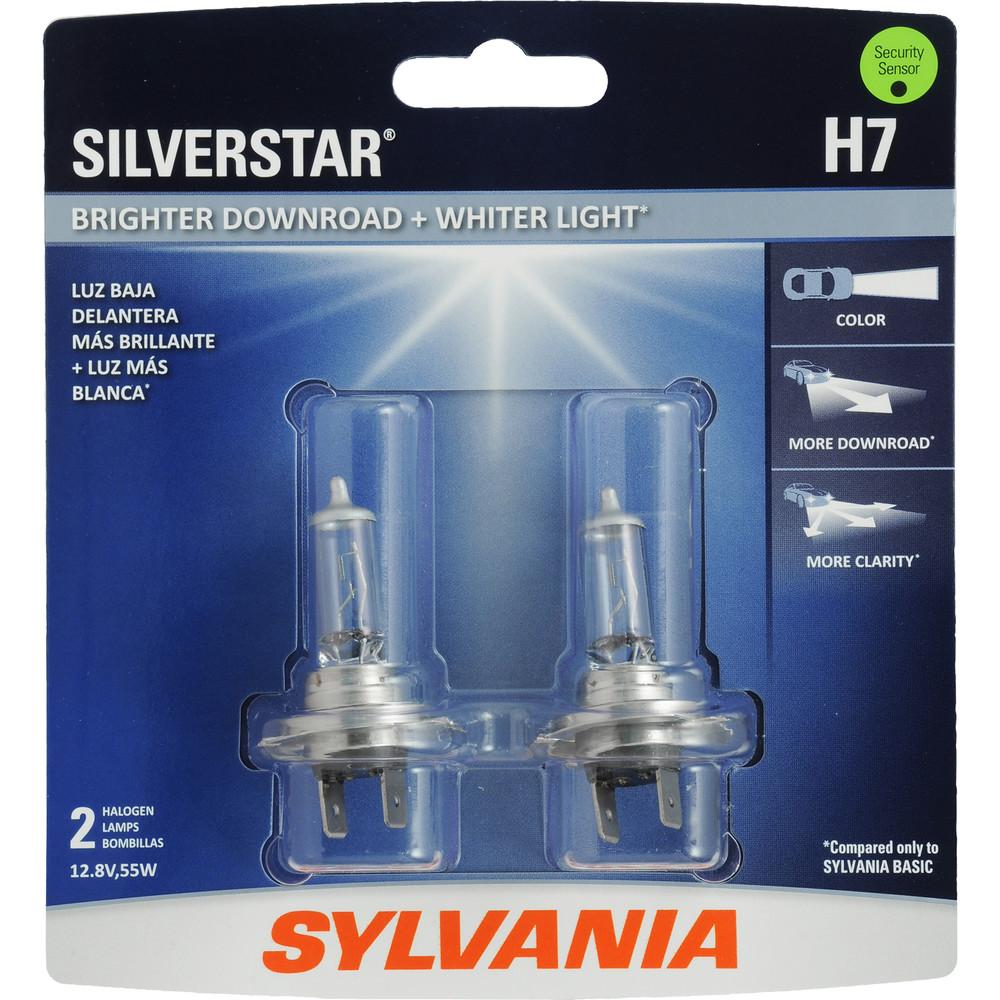 SYLVANIA RETAIL PACKS - SilverStar Blister Pack Twin Headlight Bulb - SYR H7ST.BP2
