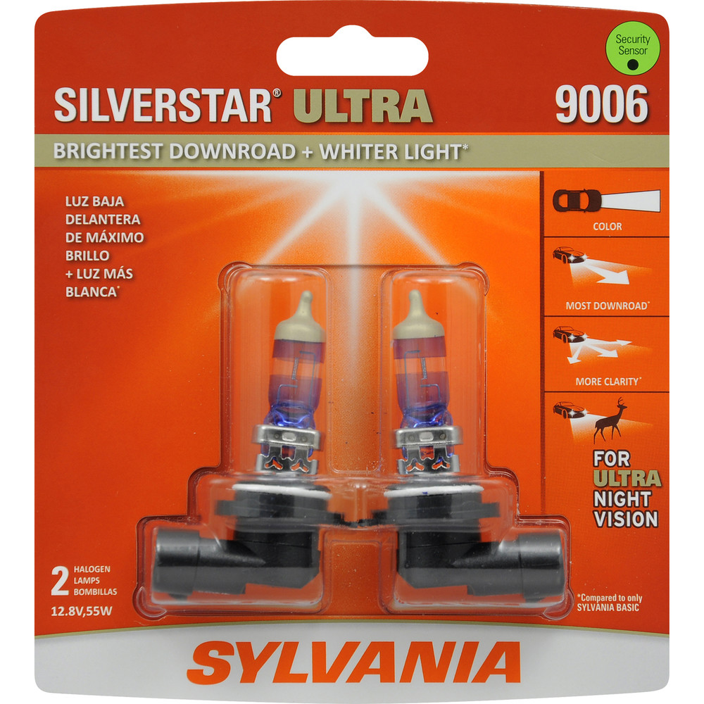 SYLVANIA RETAIL PACKS - SilverStar Ultra Blister Pack Twin Headlight Bulb (Low Beam) - SYR 9006SU.BP2