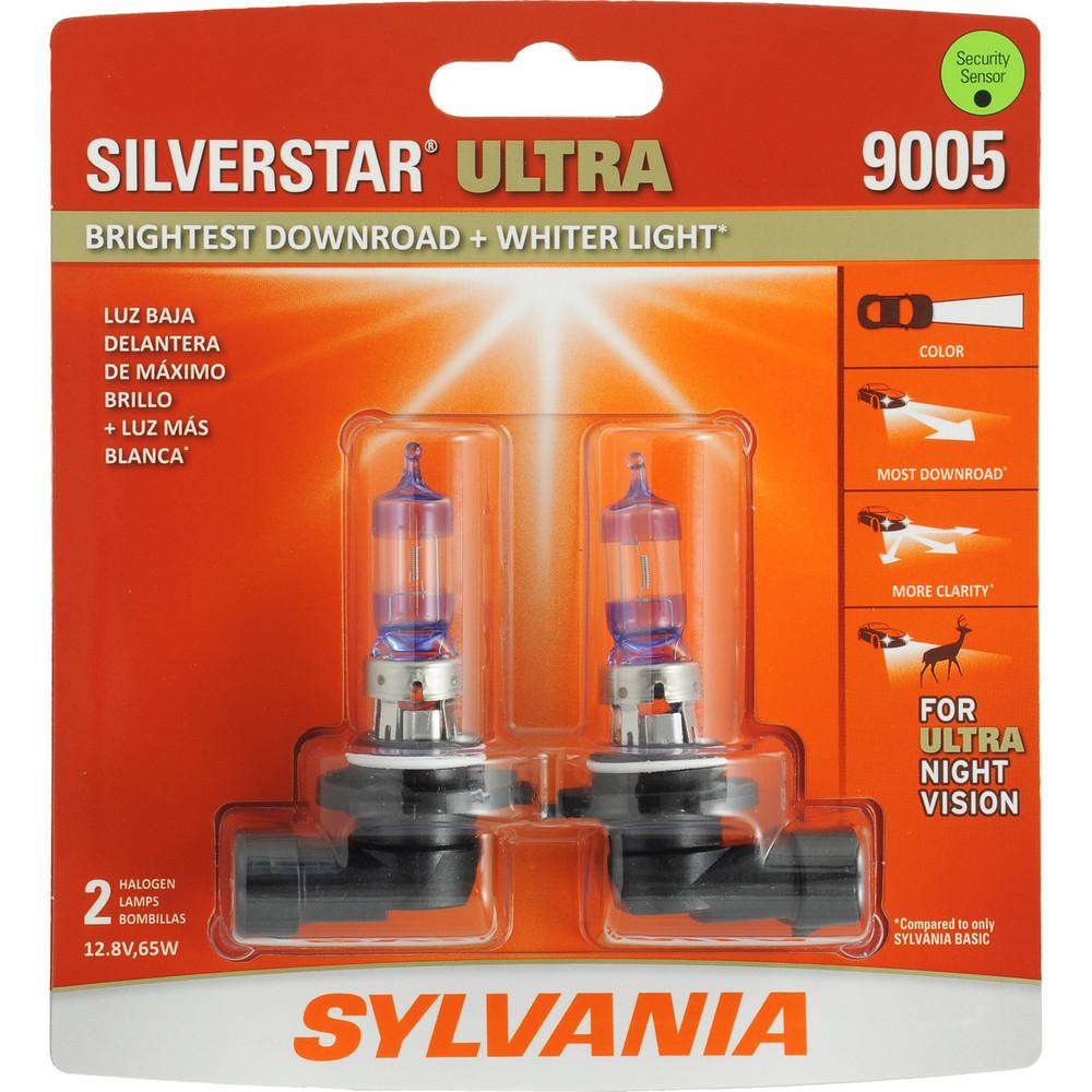 SYLVANIA RETAIL PACKS - SilverStar Ultra Blister Pack Twin Headlight Bulb (High Beam) - SYR 9005SU.BP2