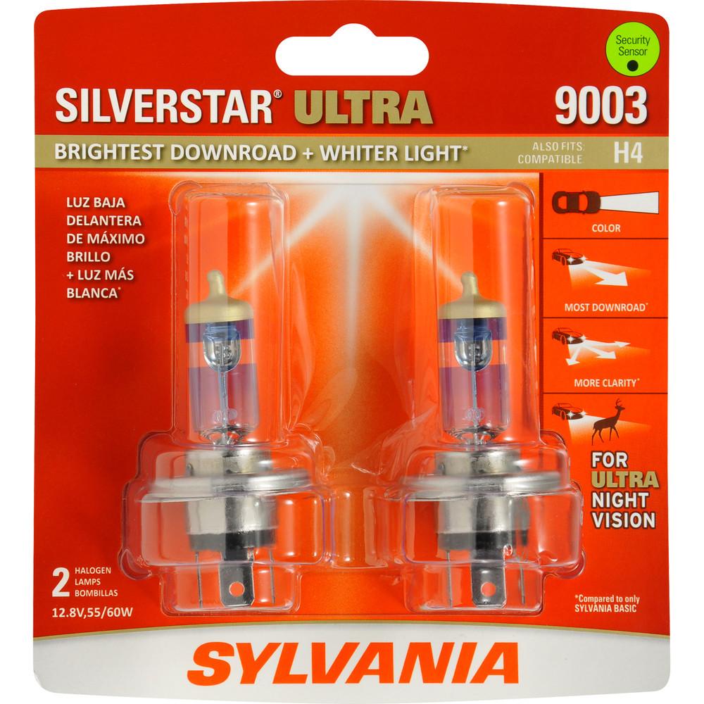 SYLVANIA RETAIL PACKS - SilverStar Ultra Blister Pack Twin Headlight Bulb - SYR 9003SU.BP2