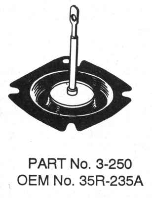 TOMCO EMISSIONS/FUEL INJECTION - Emission Secondary Diaphragm - TOM 3-250