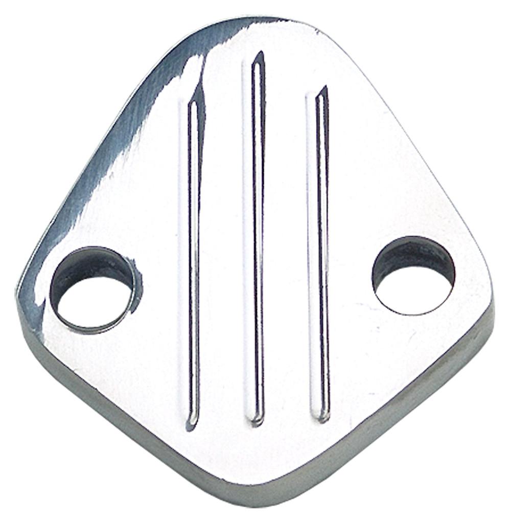 TRANS DAPT PERFORMANCE - fuel Pump Block-off Bb Chevy 396-454, V6(1-3/4^ Centers) Pinstripes-alum - TRA 6065