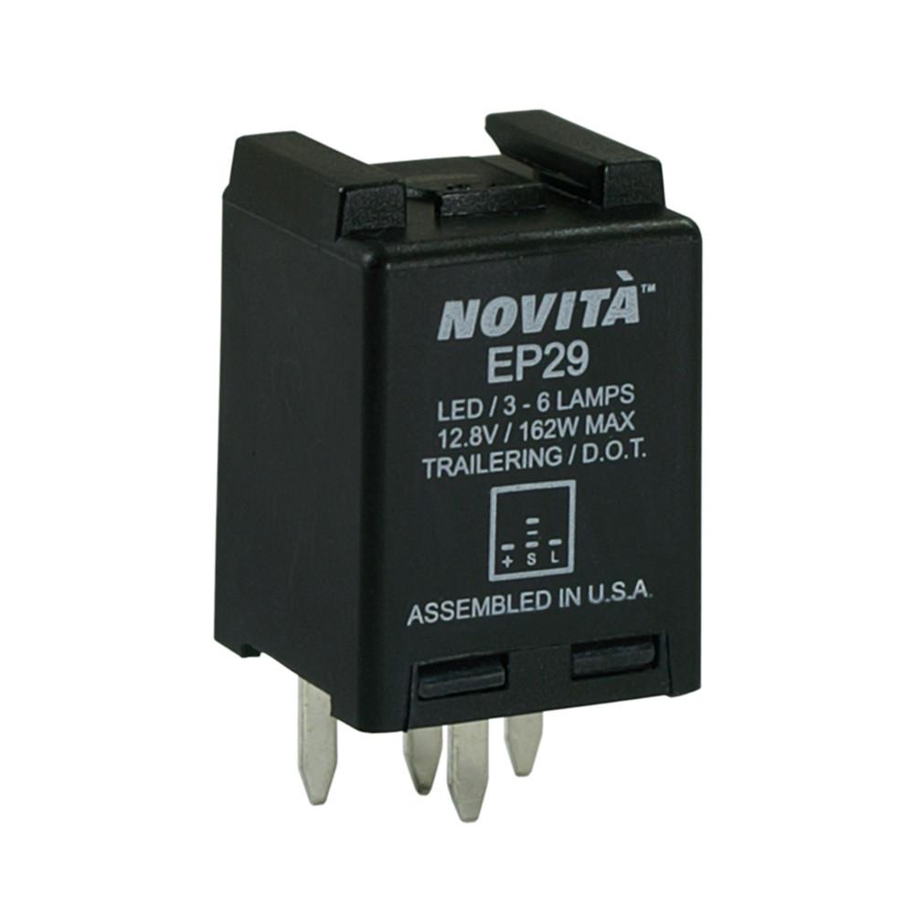 NOVITA FLASHERS - Electronic Flasher Blister Card - TRD EP29-C