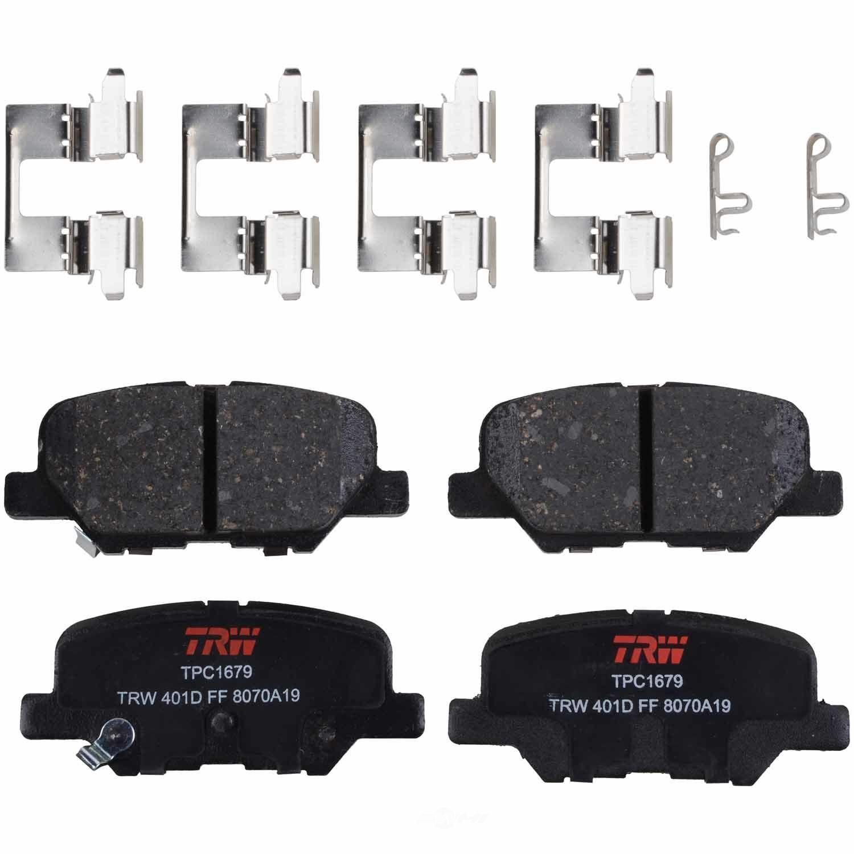 TRW AUTOMOTIVE - TRW Premium Disc Brake Pad (Rear) - TWA TPC1679