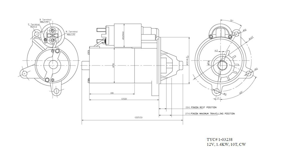 TYC - Starter Motor - TYC 1-03238