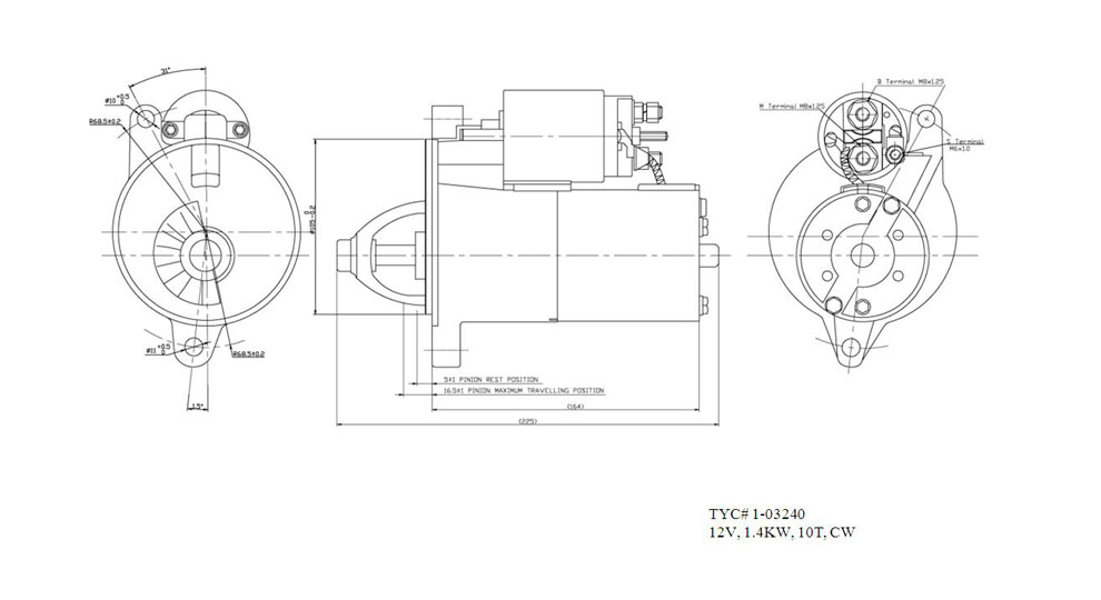 TYC - Starter Motor - TYC 1-03240