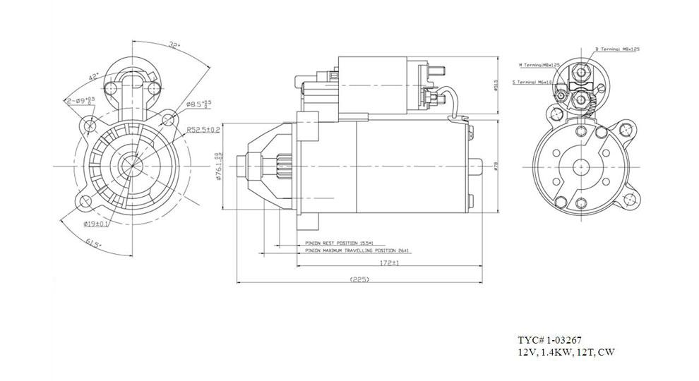 TYC - Starter Motor - TYC 1-03267