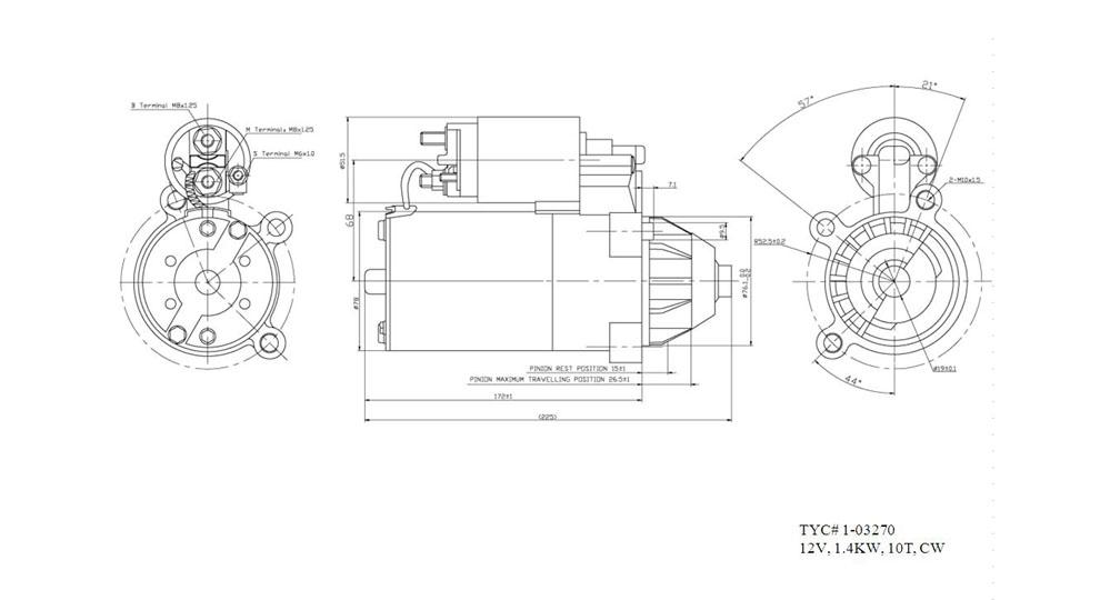 TYC - Starter Motor - TYC 1-03270