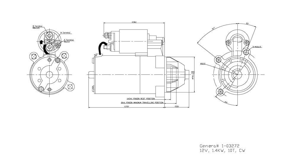 TYC - Starter Motor - TYC 1-03272