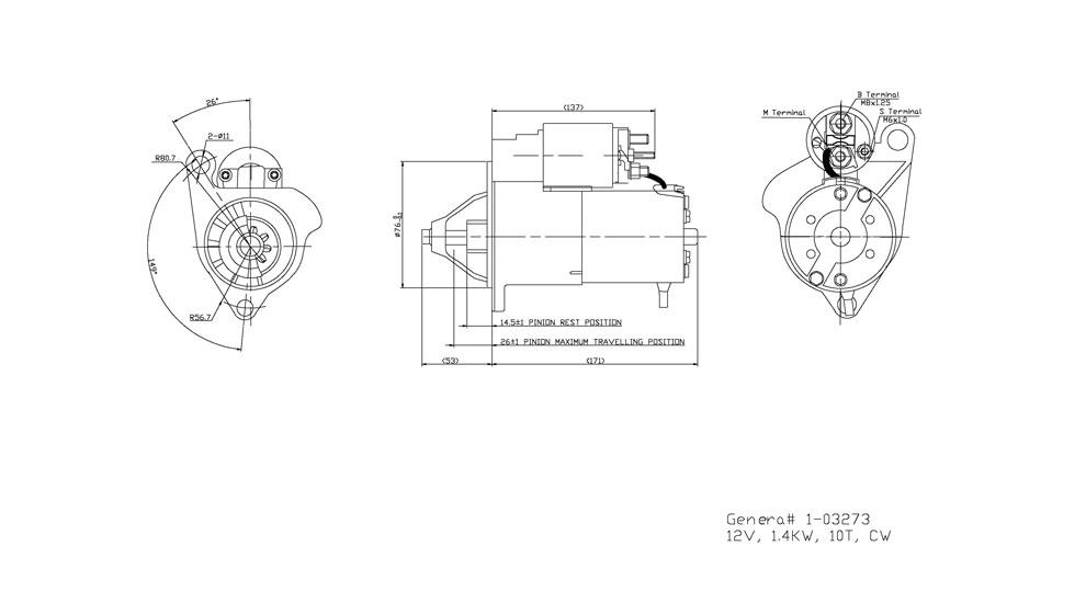 TYC - Starter Motor - TYC 1-03273