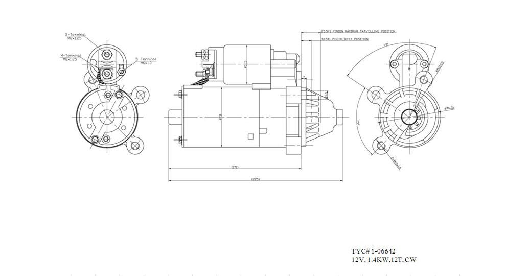 TYC - Starter Motor - TYC 1-06642