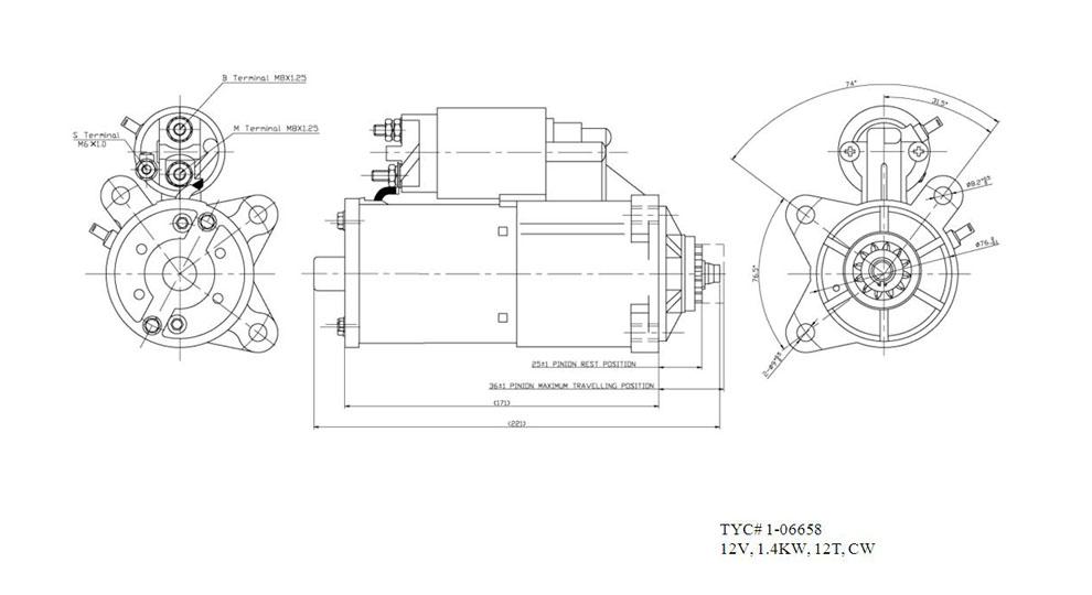 TYC - Starter Motor - TYC 1-06658