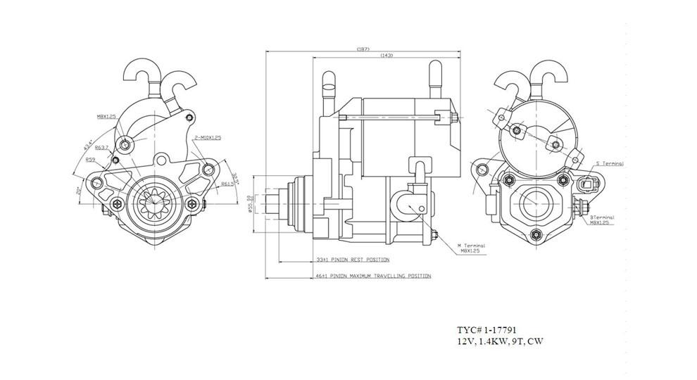 TYC - Starter Motor - TYC 1-17791