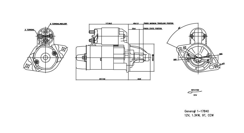 TYC - Starter Motor - TYC 1-17840