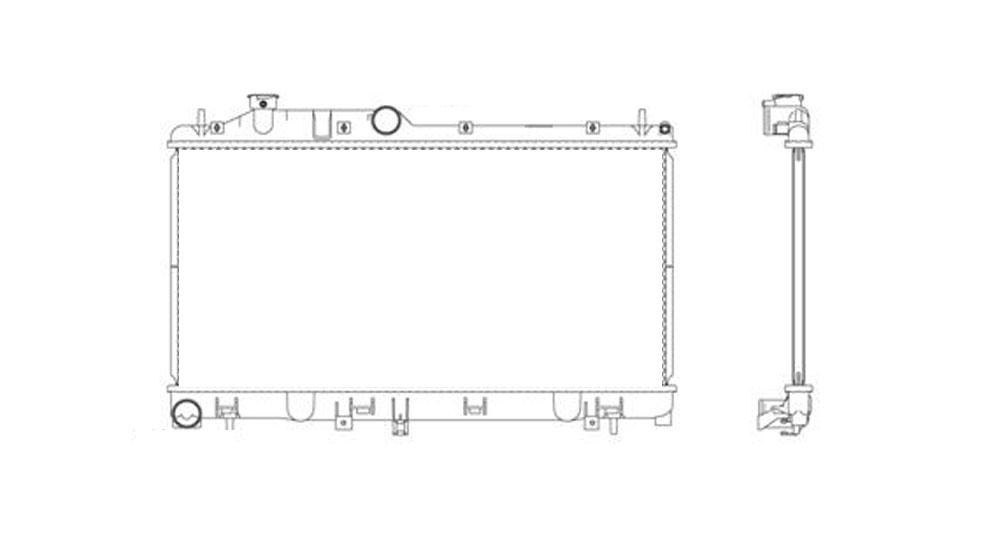 TYC - TYC Radiator - TYC 13091