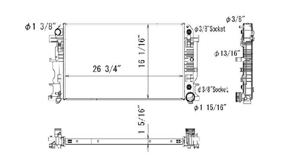 TYC - Radiator Assembly - TYC 13318
