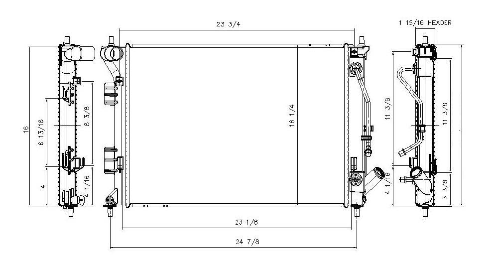 TYC - Radiator Assembly - TYC 13333