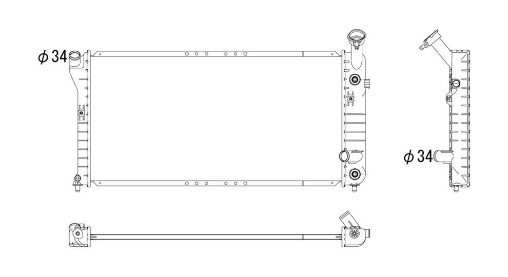 TYC - Radiator Assembly - TYC 1519