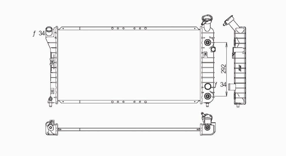 TYC - Radiator Assembly - TYC 1889
