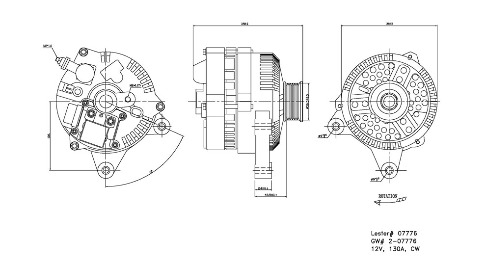 TYC - Alternator - TYC 2-07776