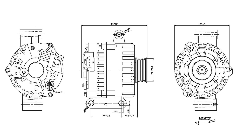 TYC - Alternator - TYC 2-08259