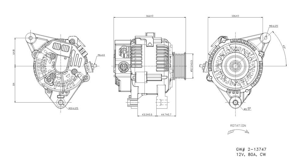 TYC - Alternator - TYC 2-13747