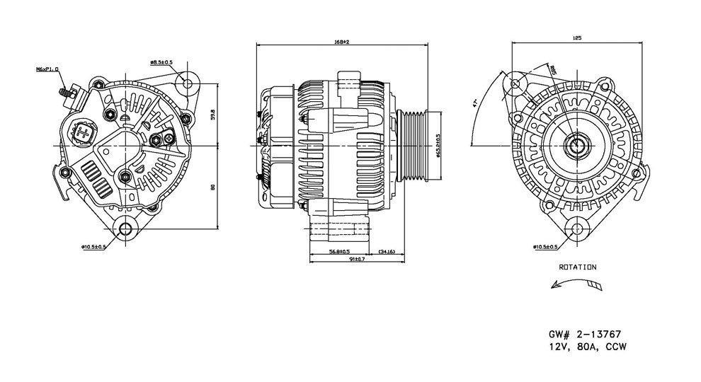 TYC - Alternator - TYC 2-13767