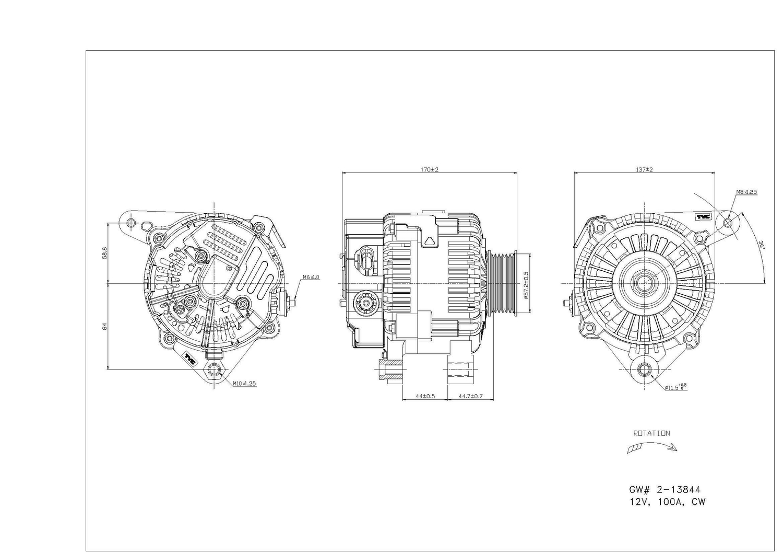 TYC - Alternator - TYC 2-13844