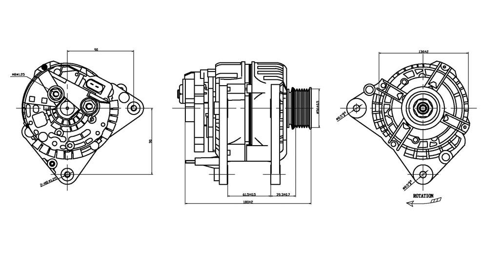 TYC - Alternator - TYC 2-13852