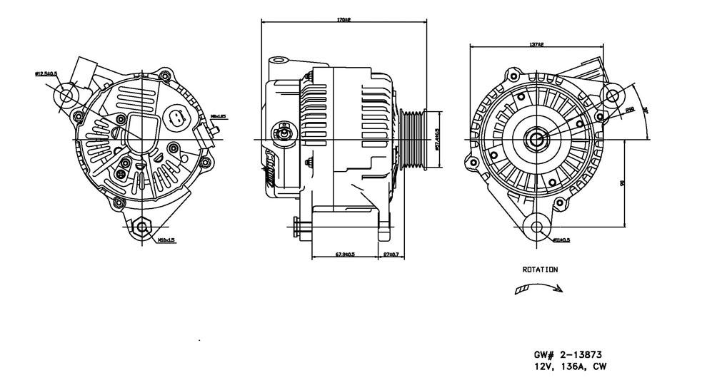 TYC - Alternator - TYC 2-13873