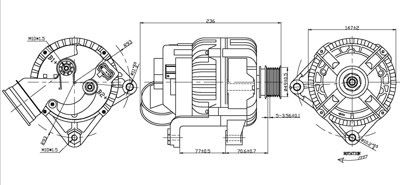 TYC - Alternator - TYC 2-13882