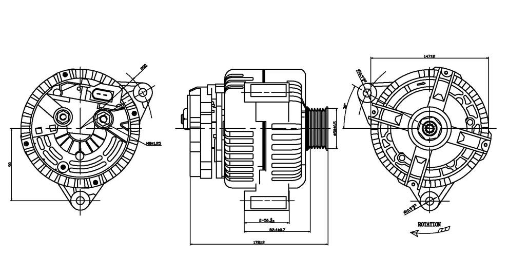 TYC - Alternator - TYC 2-13884