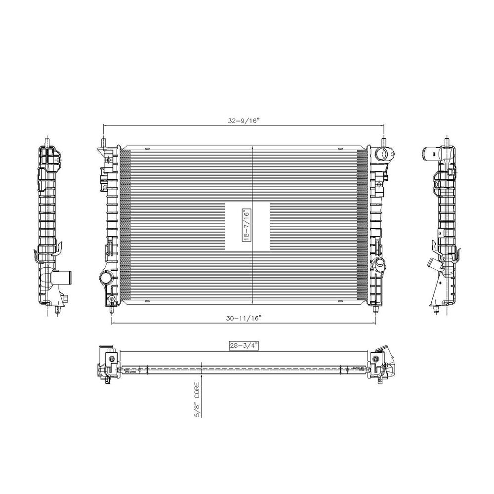 TYC - Radiator Assembly - TYC 2936
