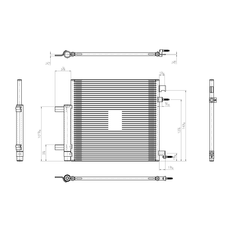 TYC - A/C Condenser - TYC 4184