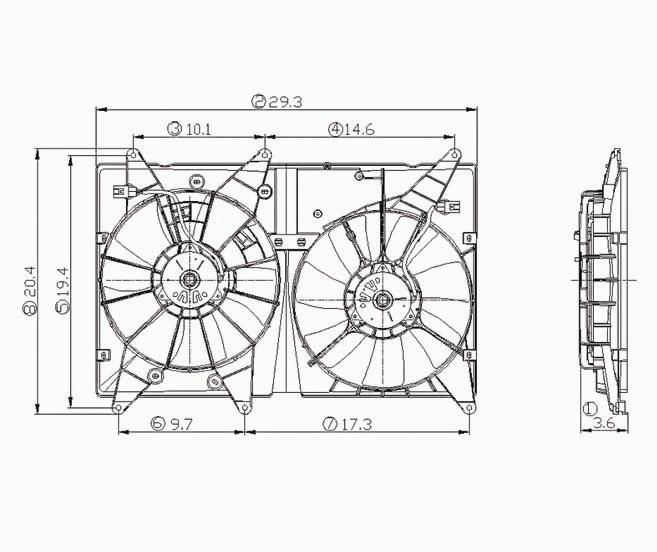 TYC - Dual Radiator And Condenser Fan Assembly - TYC 620810