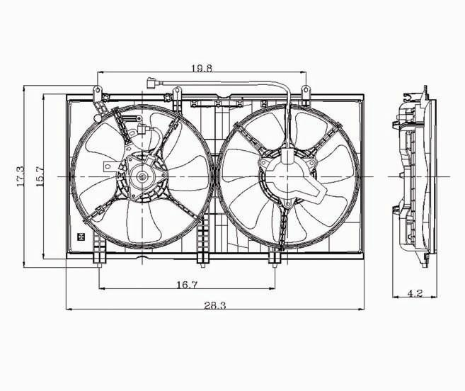 TYC - Dual Radiator And Condenser Fan Assembly - TYC 620930