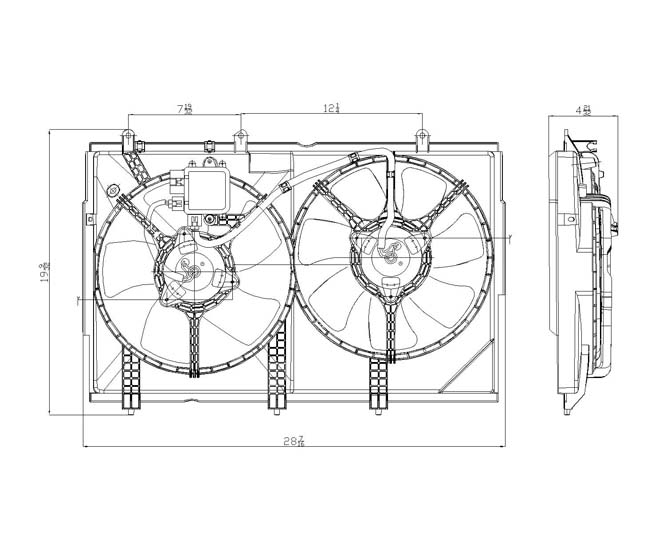 TYC - Dual Radiator And Condenser Fan Assembly - TYC 621820
