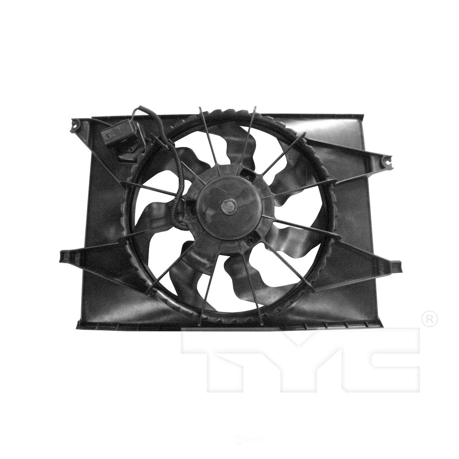 TYC - Dual Radiator and Condenser Fan Assembly - TYC 622250