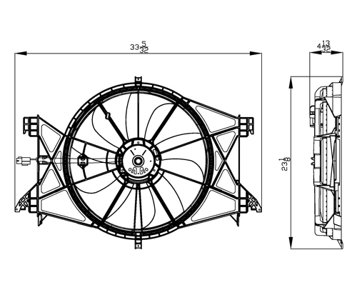 TYC - Dual Radiator And Condenser Fan Assembly - TYC 622360