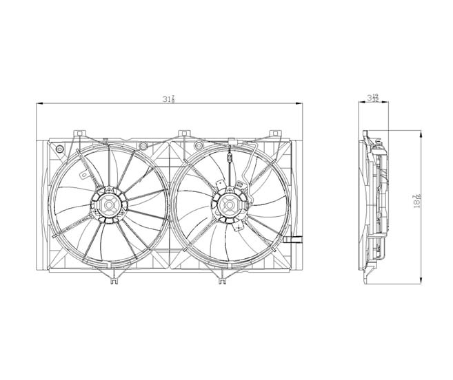 TYC - Dual Radiator And Condenser Fan Assembly - TYC 622420