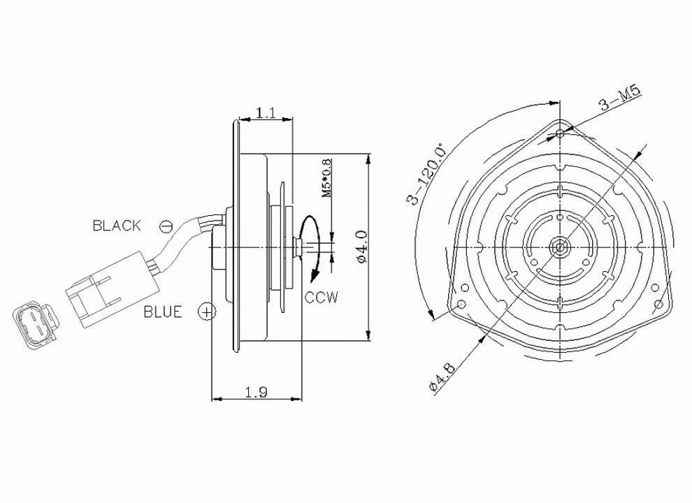 TYC - Engine Cooling Fan Motor - TYC 630250