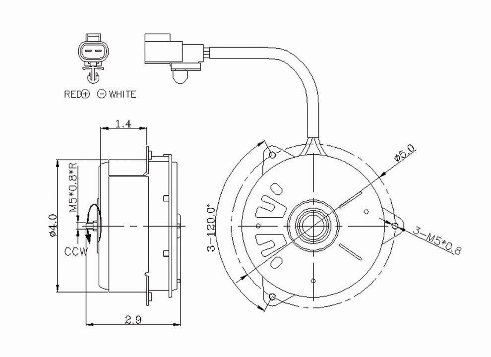 TYC - Engine Cooling Fan Motor - TYC 630320
