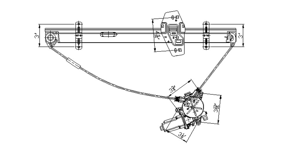 TYC - Power Window Motor And Regulator Assembly (Front Right) - TYC 660121